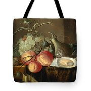 Still Life With Fruit And Oysters On A Table Tote Bag