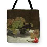 Still Life With Grapes And A Carnation Tote Bag