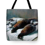 Still Life With Pheasants And Plovers Tote Bag
