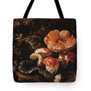 Still Life With Serpents, Fly Agarics And Thistles Tote Bag