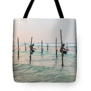 Stilt Fishermen - Sri Lanka Tote Bag