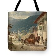 Stopping At The Coaching Inn Tote Bag