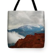 Storm Brewing At Garden Of The Gods Tote Bag