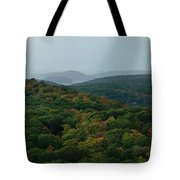 Storm Clouds Over Fall Nature Scenery Tote Bag