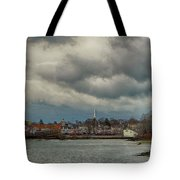 Storm Clouds Over The Bass River Tote Bag
