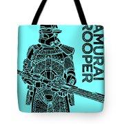 Stormtrooper - Star Wars Art - Blue Tote Bag
