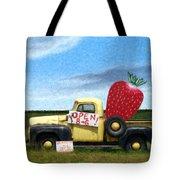 Strawberry Truck Tote Bag