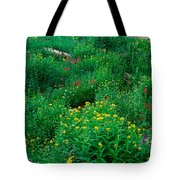 Stream And Alpine Flowers, Ouray Tote Bag