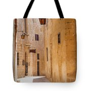 Street Sceane Mdina,malta Tote Bag