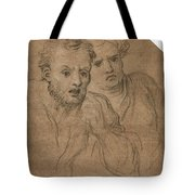 Studies Of Two Male Heads Tote Bag