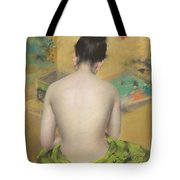 Study Of Flesh Color And Gold Tote Bag