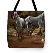 Study Of Wild Horses Tote Bag