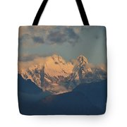 Stunning Landscape In The Italian Alps With A Cloudy Sky  Tote Bag