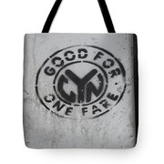 Subway Token Tote Bag