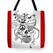 Sugar Skull #3  War And Peace Tote Bag
