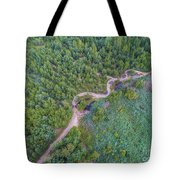 Summer Time Lake And Green Forest, In Poland Lanscape. Tote Bag