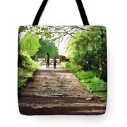 Summers Day Hardcastle Crags. Tote Bag