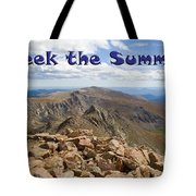 Summit Of Mount Bierstadt In The Arapahoe National Forest Tote Bag