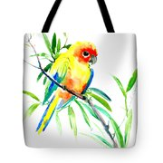 Sun Parakeet Tote Bag