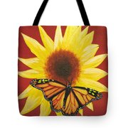 Sunflower Monarch Tote Bag