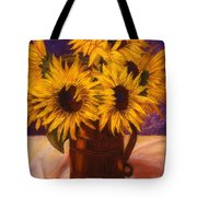 Sunflowers In A Copper Can Tote Bag