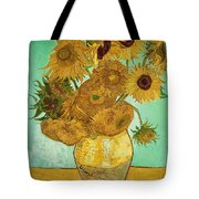 Sunflowers By Van Gogh Tote Bag by Vincent Van Gogh