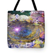 Sunglint On Autumn Lily Pond II Tote Bag