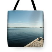 Sunny Day At The Dock Tote Bag