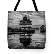 Sunrise At Drum Point Lighthouse Tote Bag