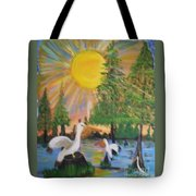 Sunrise In The Pelican State Tote Bag