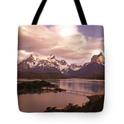 Sunrise In Torres Del Paine Tote Bag