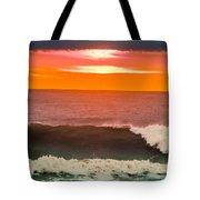 Sunrise Kissing Surf Tote Bag