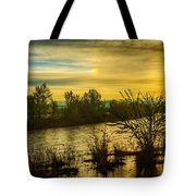 Sunrise On The Payette River Tote Bag