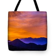 Sunrise Over Colorado Rocky Mountains Tote Bag