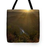 Sunrise Over Mount Hood And Sandy River Tote Bag