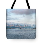 Sunrise Over New York City Tote Bag