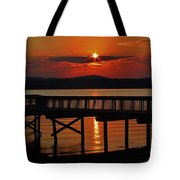 Sunrise Over The Pier Tote Bag
