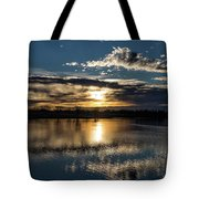 Sunrise Reflections On The Great Plains Tote Bag