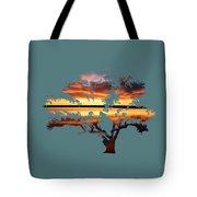 Sunrise Tree Tote Bag
