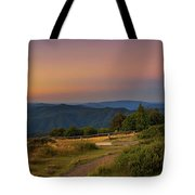Sunset Above Craigs Hut  In The Victorian Alps, Australia Tote Bag