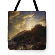 Sunset After A Storm On The Coast Of Sicily Tote Bag