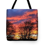 Sunset And Filigree Tote Bag