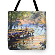 Sunset At Fishermans Park Tote Bag