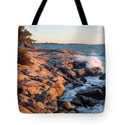 Sunset At Ocean Point, East Boothbay, Maine  -230204 Tote Bag
