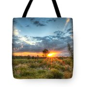 Sunset At The Field Of Dreams Tote Bag