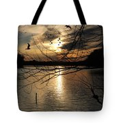 Sunset At The Lake Tote Bag