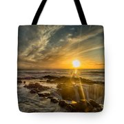 Sunset At Thor's Well Tote Bag