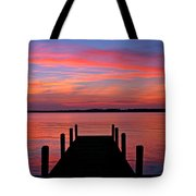 Sunset Dock Tote Bag