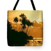 Sunset In Atiha, Moorea, French Polynesia Tote Bag