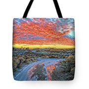 Sunset In El Prado Tote Bag